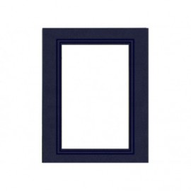Cartonaje passe-partout azul con orla en seco