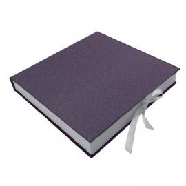 Caja de álbum Dusti Mineral Morado interior madera ref.CAJA312