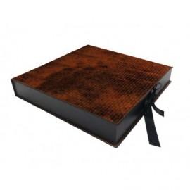 Caja Trenzado Marrón interior madera ref.CAJA330