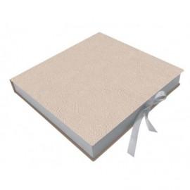 Caja semipiel Charme interior madera ref.CAJA363