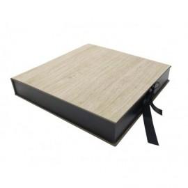 Caja Acero interior madera ref.CAJA364