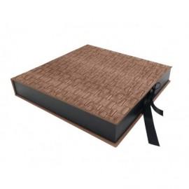 Caja Byron Bronce interior madera ref.CAJA368
