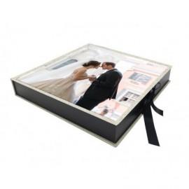 Caja con Foto interior madera negra ref.CAJAFOTO