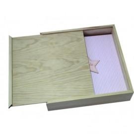 Caja de madera con tapa deslizante ref.CMADER