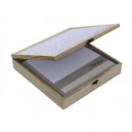 Caja madera con tapa personalizable y cierre ref.CAJACMC