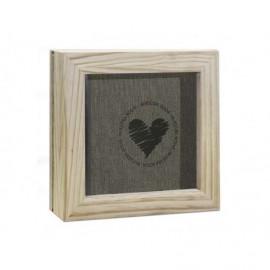 Caja Marco de madera natural ref.MCMADERNB
