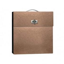 Caja maletín para álbum en semipiel ref.MALECAJA321