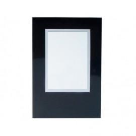 Cartonaje negro brillo orla blanca y base ref.C09 pack 25 unidades