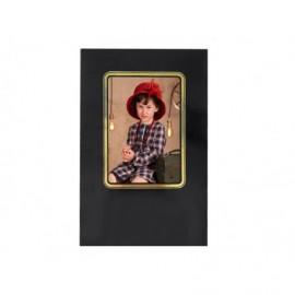 Cartonaje negro brillo orla oro y base ref.C11 pack 25 unidades