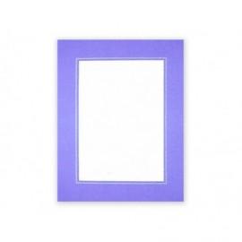 Cartonaje lila con ventana orla plata y base ref.C12 pack 25 unidades