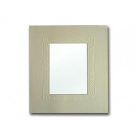 Cartonaje crema abstracto relieve en seco passe partouts