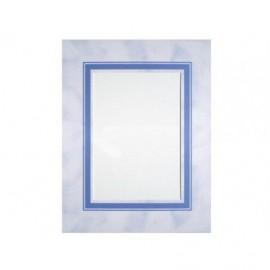 Cartonaje passe-partout azulón con orla azul (pack de 25 unidades)