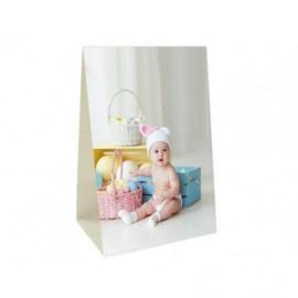 Peana vertical con adhesivo para 2 fotos (pack 25 unidades)
