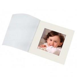 Cartonaje Passe Partout biselado blanco con tapa vegetal ref. PPBT-VEG pack 25 unidades