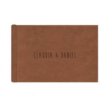 Álbum digital de boda en tela suave color gris. Ref 166GRD
