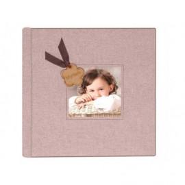 Album en Romer con recuadro con foto 11x11 y detalle en madera personalizado ref.1821810