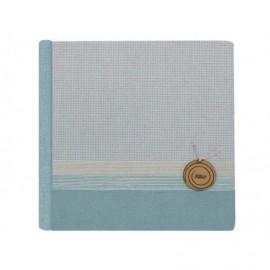 Album analógico lino Zen con yute y madera redonda personalizada ref.1911914