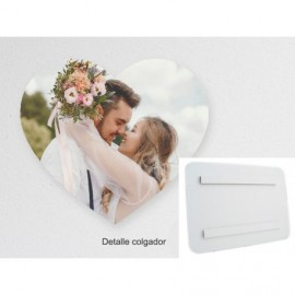 Foto en PVC blanco de 5mm corazón air