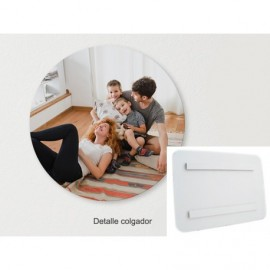 Foto en PVC blanco de 5mm circulo air