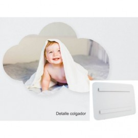 Foto en PVC blanco de 5mm nube air