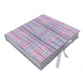 Caja forrada Kuad interior madera blanca 22 X 22 X 4 ref.CAJA108