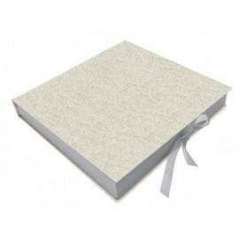 Caja para álbum Lino interior madera ref.CAJA149